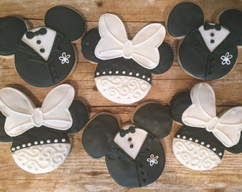 engagement gift bridal shower gift mickey and minnie bride