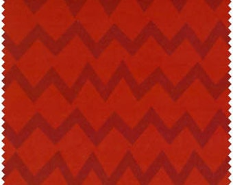 Red Monster Tone on Tone Chevron from Camelot Fabric's Monster Mash Collection