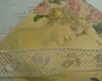 Gorgeous Antique French Netted Lace Yardage