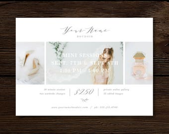 Valentine's Day Mini Session Template - Modern Calligraphy Style Designs - Boudoir Photography Templates - Photoshop Templates - Aspen