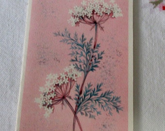 Vintage Hallmark Contemporary  Pink Dandelion  Note Cards Set of 9  Unused Cards