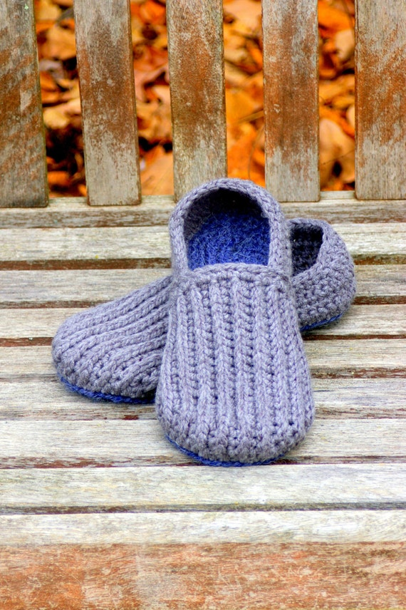 Crochet Pattern For Mens House Shoes The Lazy Day Loafers