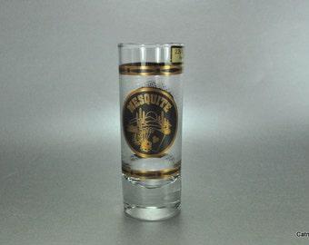 Culver Shot Glass 22 K Gold Mesquite Nevada Tall Vintage