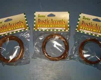 3 Rolls of 22 Gauge Rusty Wire, Rusted Wire, Primitive, Country Craft Supply, 3x 30 ft, 22 ga Wire