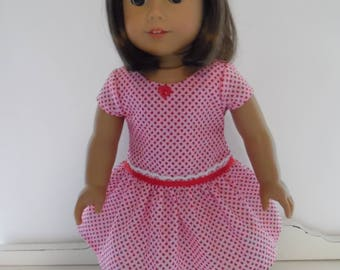 American Girl Valentine Dress with Headband and Shoes