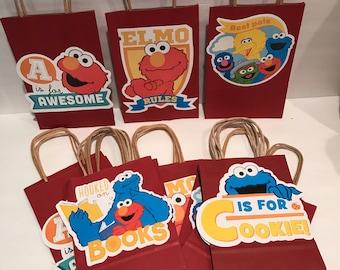 Sesame Street Favor Bags  ***please read description on how to order