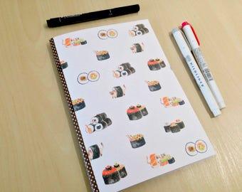 A5 Sushi Cats Bullet Journal Notebook