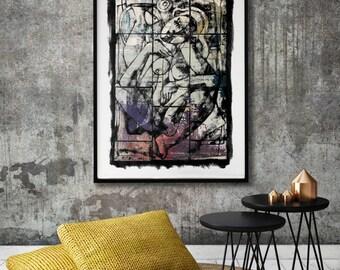 Contemporary wall art - fine art giclee print - modern painting