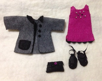 Date night felt doll outfit