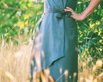 Purl Edge Wrap Dress---Custom Made in Wools and Silks