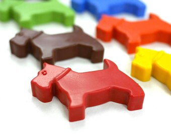 Dog Crayons - Handmade Crayons -  Scotty Dog - Set of 8 - Dog Lover Gift - Dog Gifts - Stocking Filler - Childrens Gift - Animal crayons