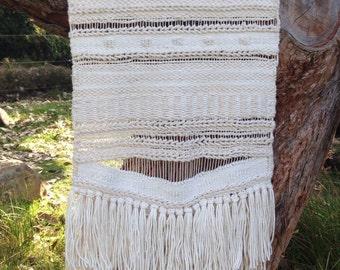 Cream natural cotton Wallhanging / Wall Art / Weaving