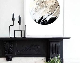 Earth V Print (Paint, Acrylic, Abstract, Fluid Painting, Wall Art, Home Decor, Unframed or Framed print)