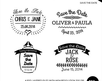 save the date psd template - Boat.jeremyeaton.co