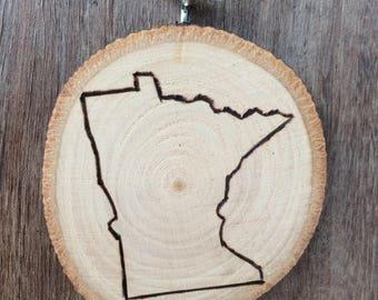Minnesota Wooden Ornament
