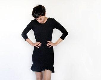 Black Tight Mini T shirt Dress // Casual Mini Dress // Little black dress // Petites sizes available