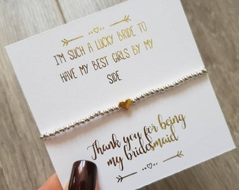 GOLD Bridesmaid Thank you Gift. Bridesmaid Bracelet. Bridesmaid Gift box or Thank you gift for Bridesmaid/Maid of Honour/Flower Girl