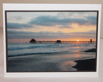 photo card, Huntington Beach, photograph, sunset
