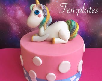 Magical Unicorn Cake Topper with Templates Tutorial (PDF)