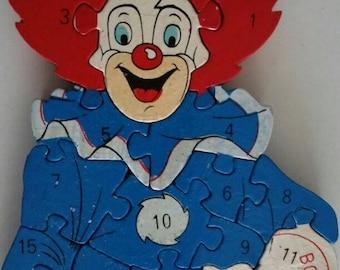 Vintage Bozo The Clown Jigsaw Puzzle, Larry Harmon 1997