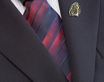 Pekingese brooch - Gold