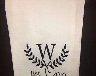 Personalized Tea Towel