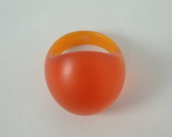 Orange You Glad dome ring, size 7.25