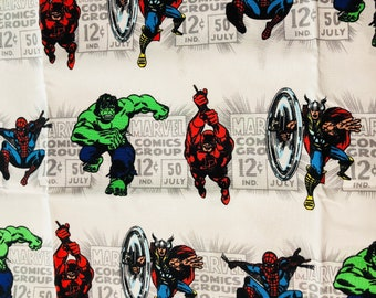 Marvel Comics Various Characters Fabric by the Yard