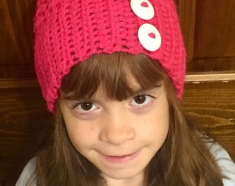 Children's Slouchy Hat Pink
