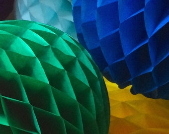 Green 16 Inch Honeycomb Tissue Paper Balls - Paper Party Decor Decoration Supplies