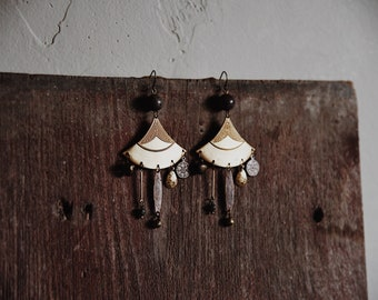 calliope. a pair of eclectic bohemian chandelier earrings