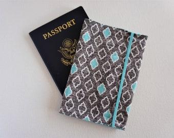 Passport Cover | Gray Teal Trellis Passport Case | Passport Travel Holder | Travel Gift | Travel Enthusiast