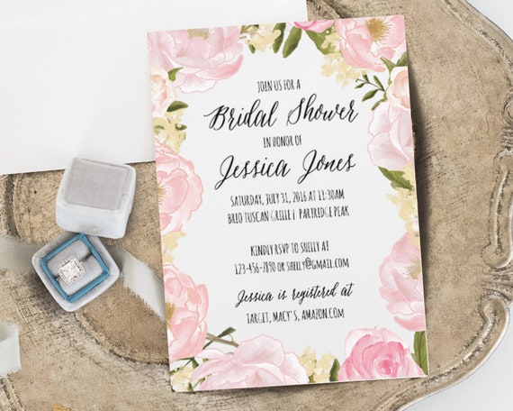 Bridal shower invitation template instant download bridal filmwisefo