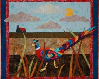 BJ Designs & Patterns Pheasant Under Grass Applique Quilt Pattern