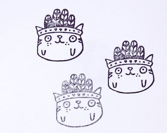 stamp INDIAN CAT, green