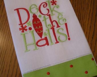 Deck The Halls Christmas Decorative Kitchen Towel