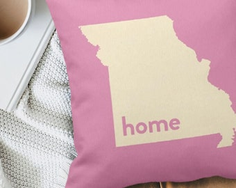 Missouri Pillow, Home State Pillow, Floor Pillow, Custom Personalized Wedding Housewarming Gift for mom girlfriend wife dad