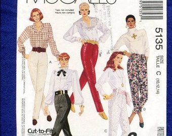 McCall's 5135 Tap Dance Fitted Pants Pattern Size 10..12..14 UNCUT