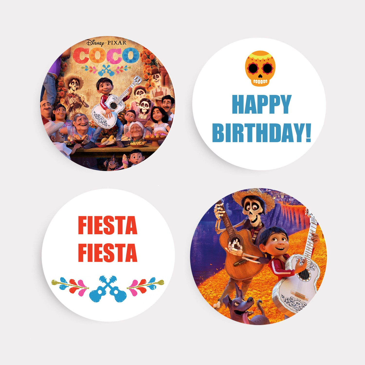 Coco Cupcake Toppers Happy Birthday Cake Toppers