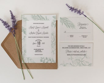 Printed OR Printable Wedding Invitation // Branches