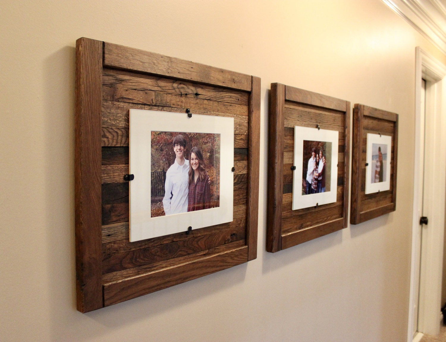 Reclaimed Wood Frames Large Wood Frames Set Of 3 8 X 10