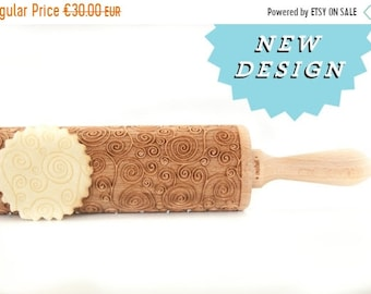SALE Rolling Pin engraved SPIRALS RANDI  ! Embossing rolling pin, laser engraved rolling pin New pattern *** Wedding Gift Birthday Gift ***