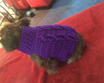 Purple Cable Sweater