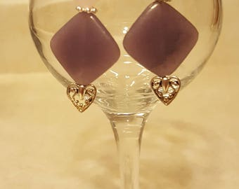 Silver Earrings, Semi-Precious Stone Earrings, Dangle and Drop Earrings, Rose Quartz and Stone Earrings