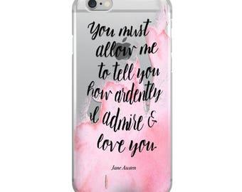 Jane Austen Clear iPhone Case - Bookish Phone Cover