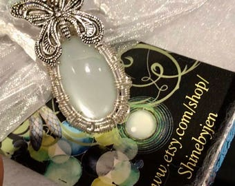 Butterfly necklace moonstone