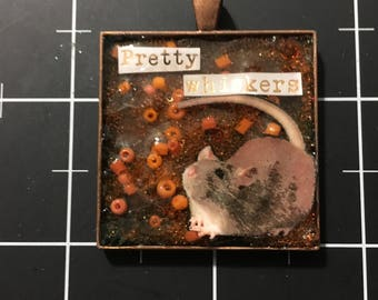 """Berkshire Rat, """"Pretty Whiskers"""", 50% goes to the current focus charity"""