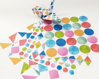 Origami Paper Sheets - Watercolor Pattern - 100 Sheets