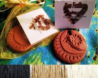 Terracotta Clay Aromatherapy Sun & Moon NECKLACE - Personal DIFFUSER for Essential Oils