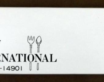 Vintage Fondue Forks, Boxed Set of 4, Gourmet International 86-14901, New Old Stock